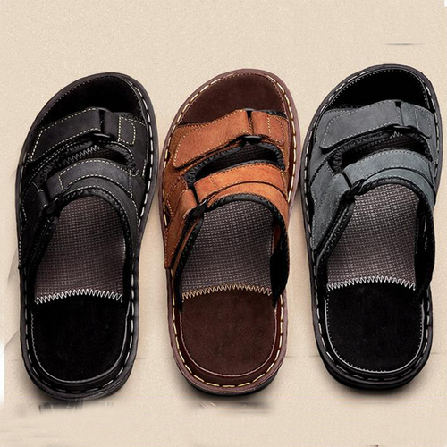 New Mens Big Size  Leather Sandals