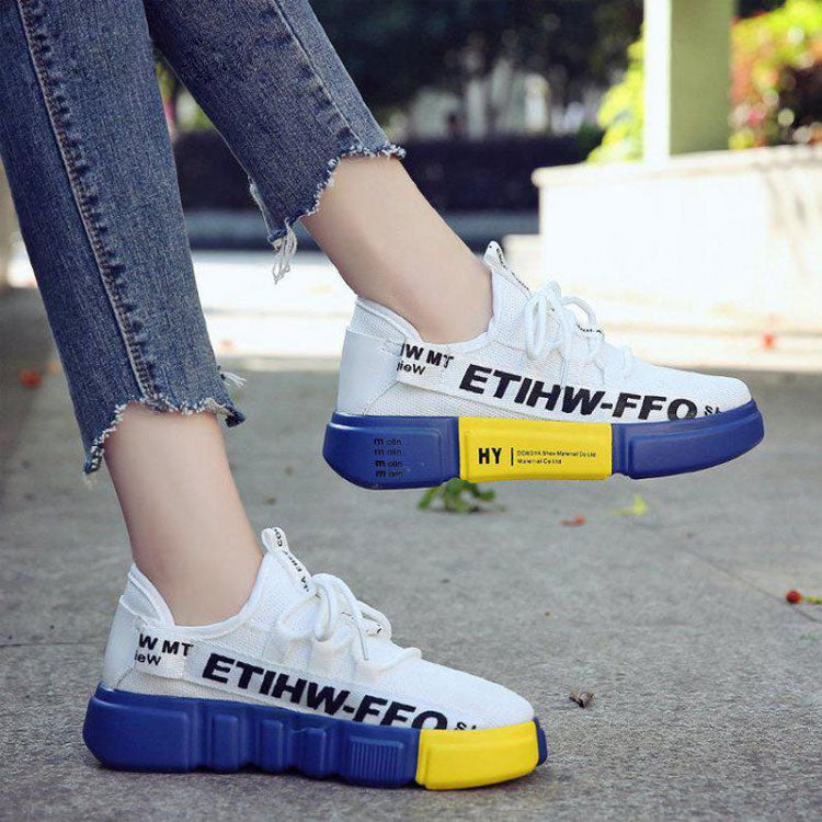 Casual Women Shoes Letters Pattern Hip-hop Style