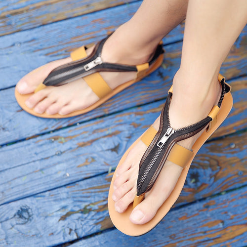Men's Personalized Zipper Flip-Flops