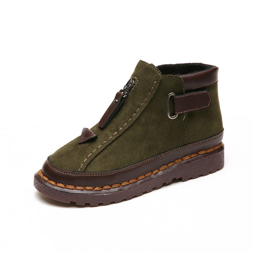 Chelsea Flat Bottom Martin Ankle Boots