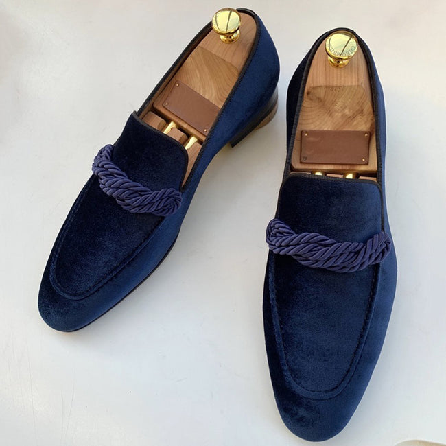 Suede Surface Royal Blue Loafers