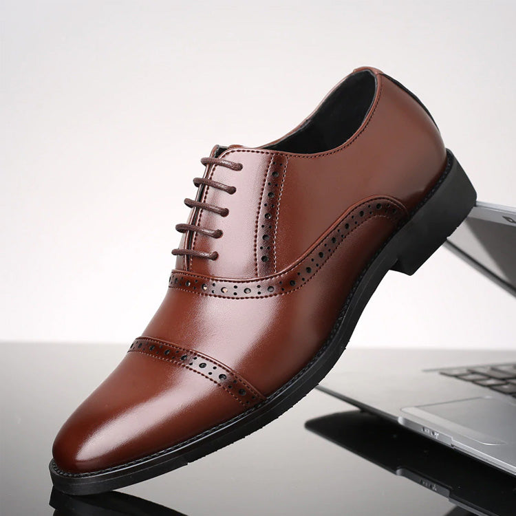 Big Size Oxford Retro Formal Shoes Lace Up