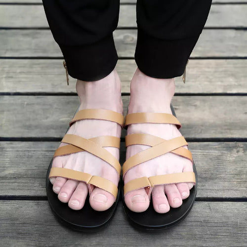 Summer Men's Leather Sandals