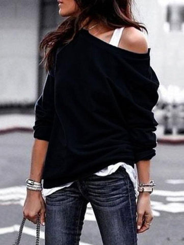 Fashion Round Neck Long Sleeve Blouse