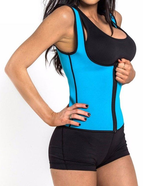 Neoprene Hot Shapers Zipper Susan Vest Waist Trainer Fitness Shapewear