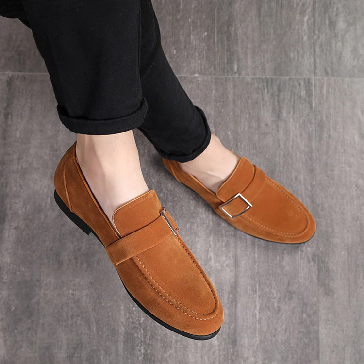 0b78617918fd Fashion Men Shoes Round Toe Pure Color Slip-On