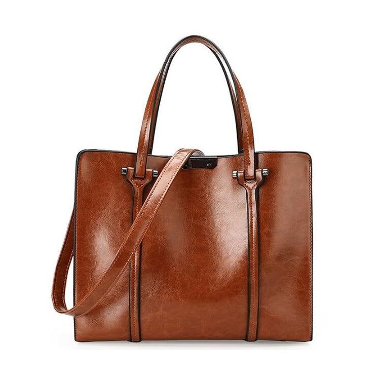 Business Women Vintage Bag Patchwork Solid Color
