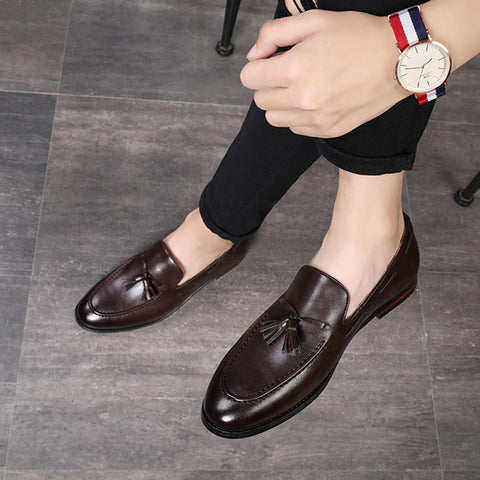Luxury Dress Shoes Patent Leather Rivets Loafers Prom