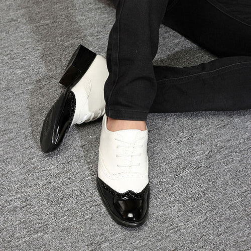 Business Formal Shoes Splicing Pointed Toe Leather Flats