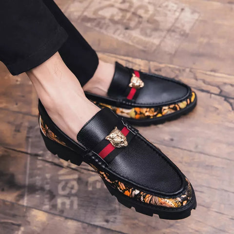 Tassel Weaving Flats Dress Shoes