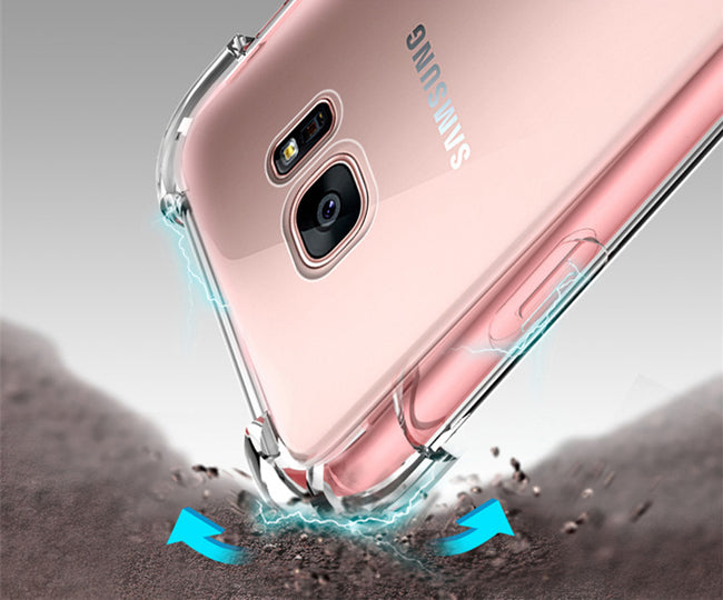 Powstro Super Shockproof Clear Silicone Case For Samsung Galaxy