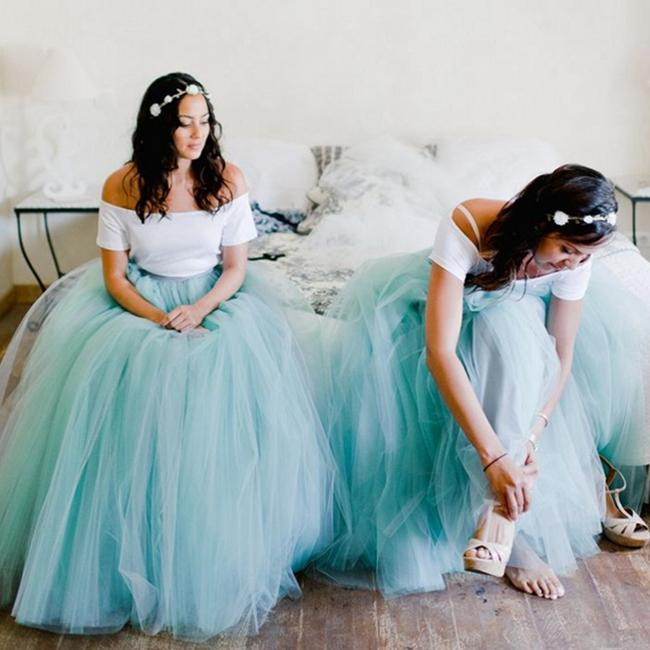 Skirt - Plus Size Floor Length Puffy Tutu Skirts