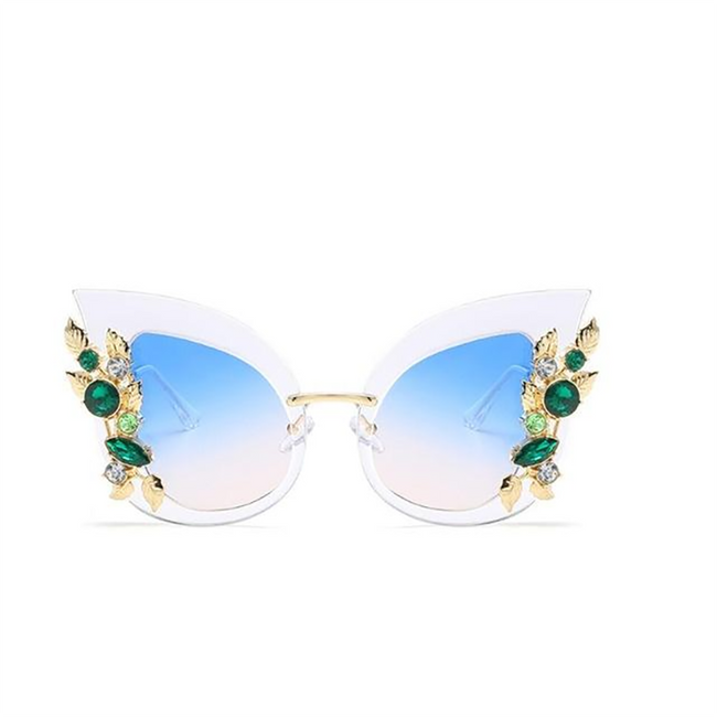 New Fashion Green Diamond Sunglasses