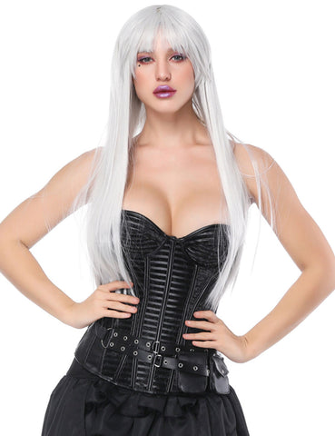 14 Plastic Bones Overbust Corset With Pocket