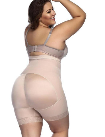 Compression Silhouette Anti-Curl Material Shapewear Butt Enhancer Chic Online