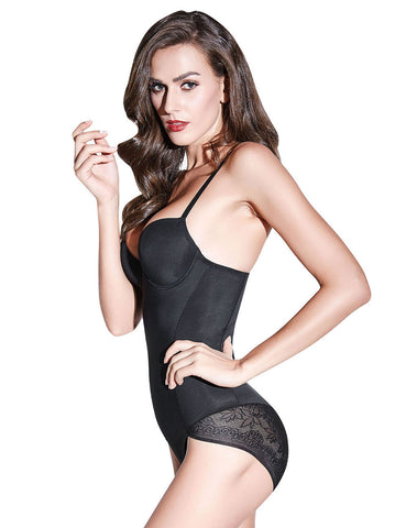 Lace Stitching Body Shaper Spaghetti Straps