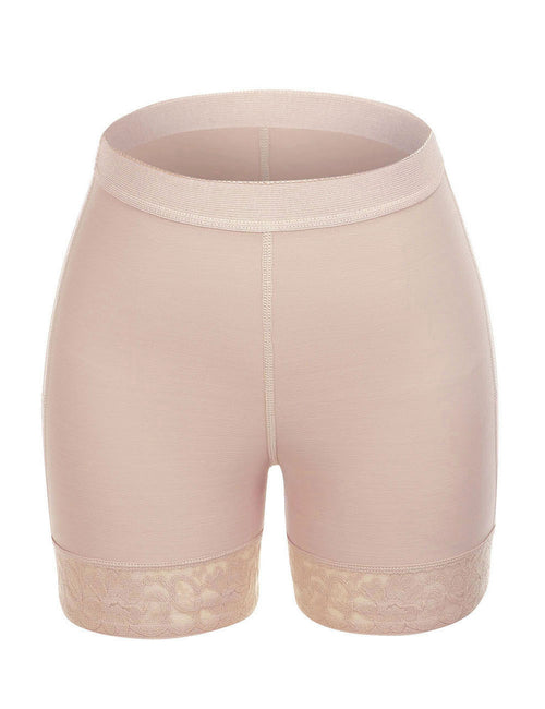 Wide Elastic Band Butt Enhancer Panty Crotchless