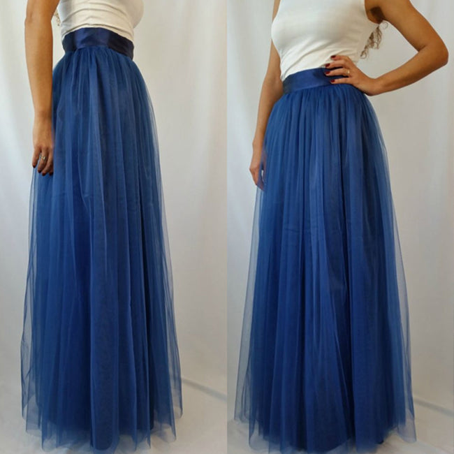 Skirt - Plus Size Multicolor Floor Length Puffy Tutu Skirts