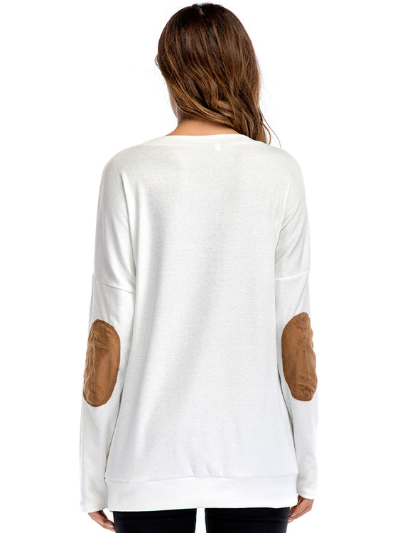 Round Neck Print Shirts Long Sleeves