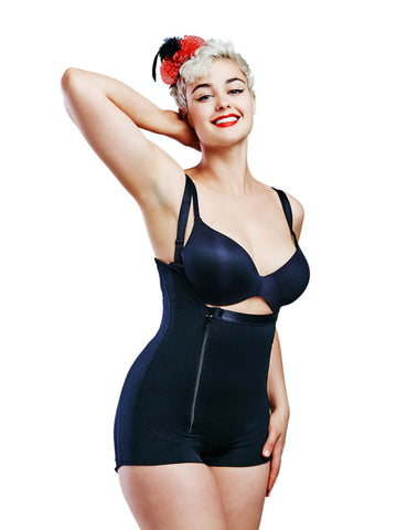 Plus Size Waist Cinchers With Zipper Straps