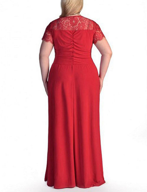 Absorbing Plus Size Long Formal Dresses Lace Sleeves Shop Online