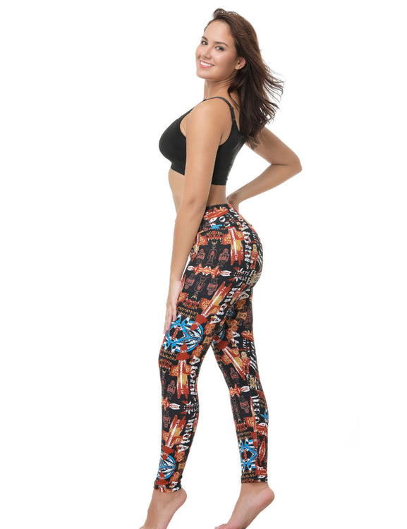 Airy Mid Waist Brushed Leggings Print Ideal Choice