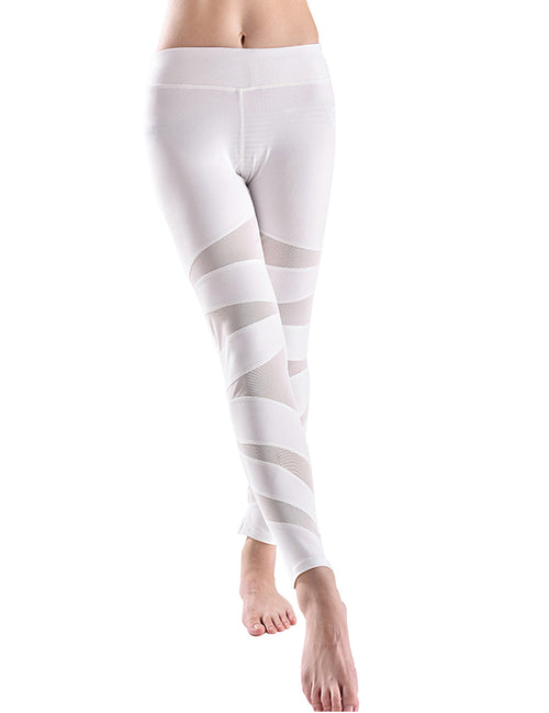 Astonishing Mesh Panel Yoga Legging Middle Waist Cheap Online Sale