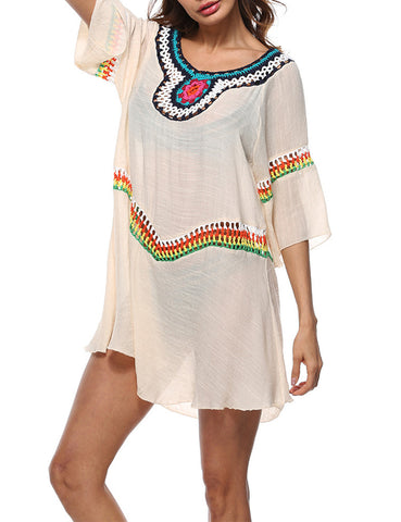 Versatile Boho Shawl Loose Printed Beach Cover Up Weekend Fashion