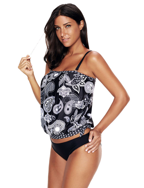 Beach Vacation Patterns Plus Detachable Padded Tankini Hem Straps Going Out Outfits