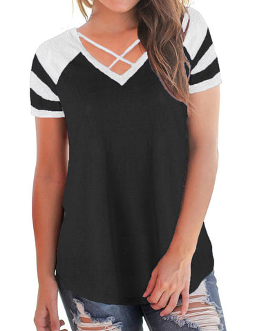 Best CrissCross Straps V Neck Shirts High Back Amazing Look