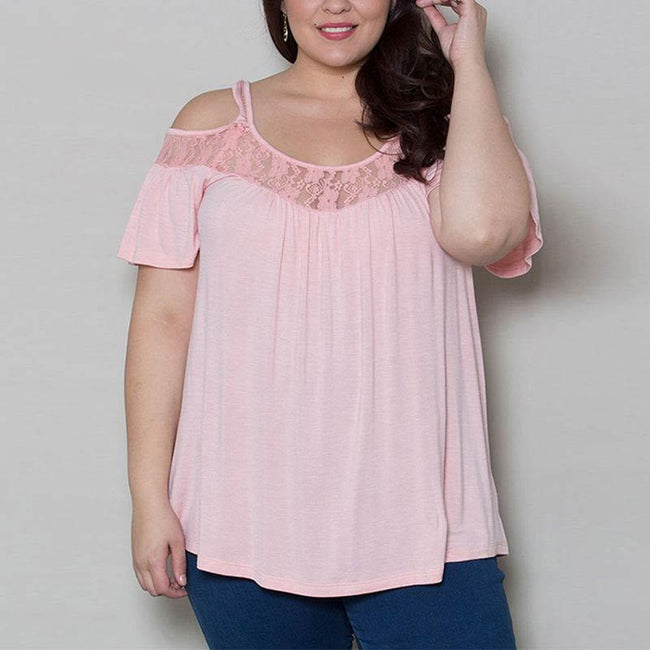 Blouse - Summer Off Shoulder Lace Tops