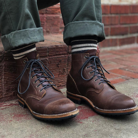 Vintage British Military High-Cut Lace-up Martin Boots