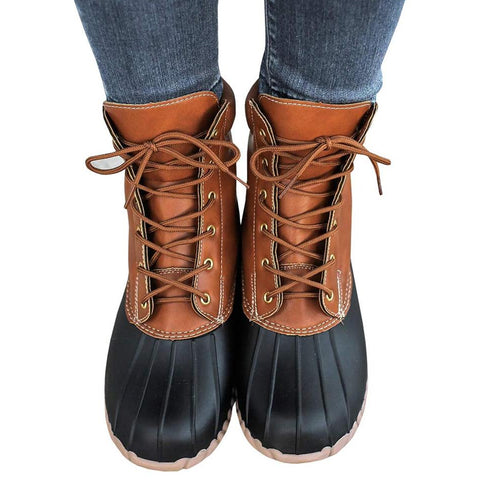 Luxury Lace-up Platform Winter Boots