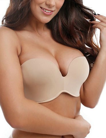 Silicone Bands Strapless Seamless Lift Ultimate Bra