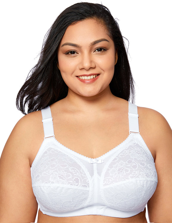 Lace Non-wired Full Cup Unlined Firm Support Bra
