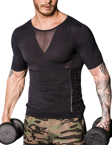 Remarkable Mens Seamless Sleeveless Shaper Midsection Compression