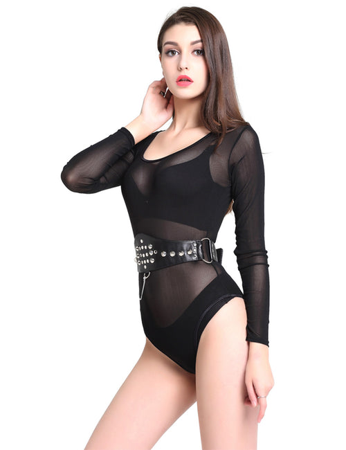 Breathe Freely Corset Waist Belt Chains D Rings Velcro Closure High Elasticity