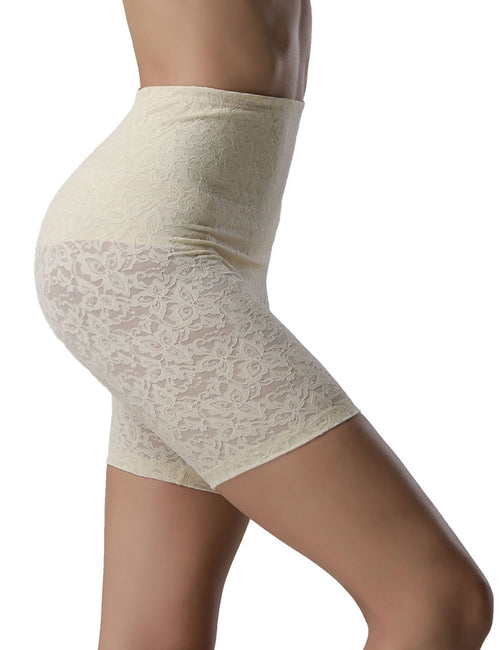 Breathe Freely Lace High Waist Butt Lift Shaper Boyleg Fat Burner