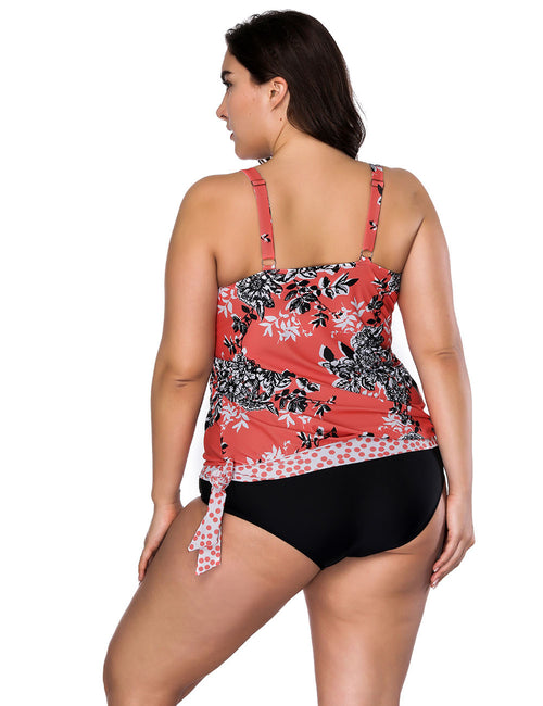 Bright Side Knotted Flower Large Size Tankini Comfort Devotion