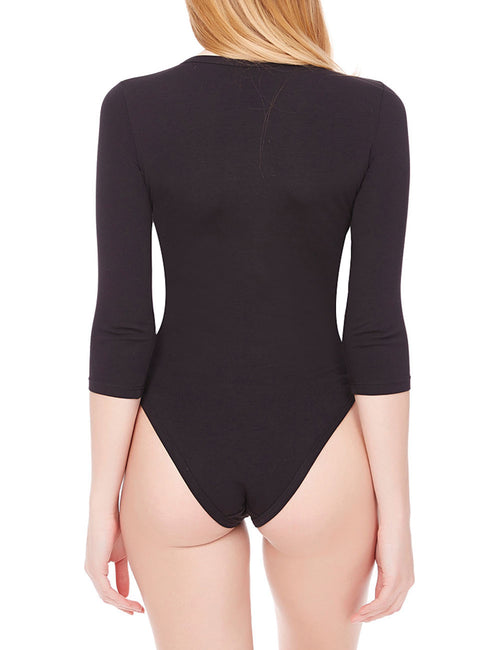 Brightly Crotch Hooks Long Sleeve Bodysuit Online Shopping