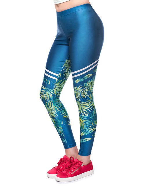 Brilliant Stretch 3D Print Sports Legging Natural Outfit