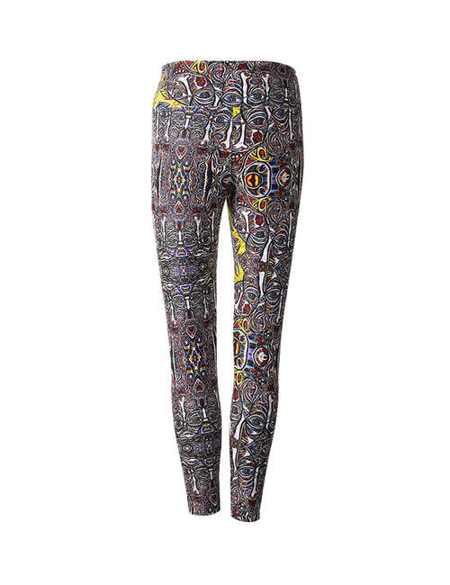 Captivating East Wide Gallery Berlin Print Leggings For Outdoor Activity