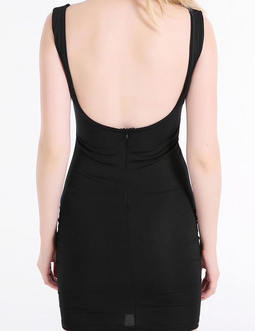 Causal Crossed Halter Backless Mini Dress Sleeveless For Sauntering