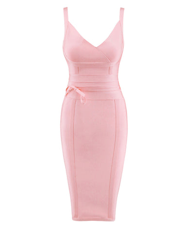 Cheeky Plunge Neck Bandage Dress Sleeveless For Fashion