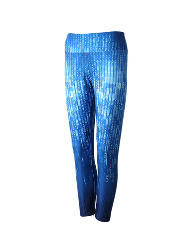 Classic Coding Patterns Elastane Leggings High Grade