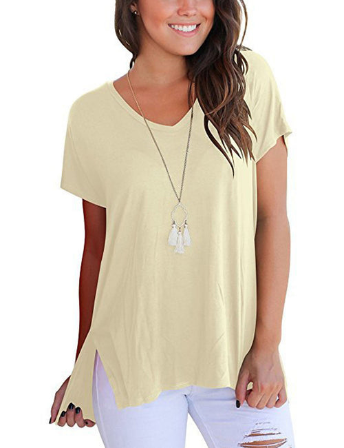 Classical Short-Sleeve Blouses Full Back Cheap Fashion Style