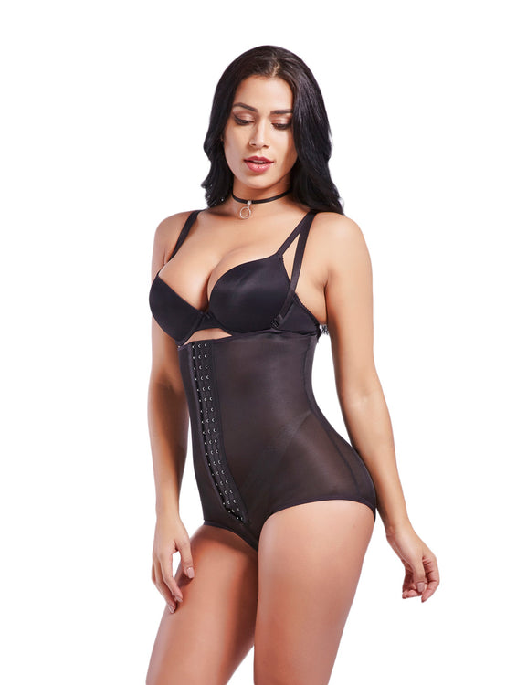 Comfort Strapped Hook Eyes Postpartum Body Shaper Hidden Curves