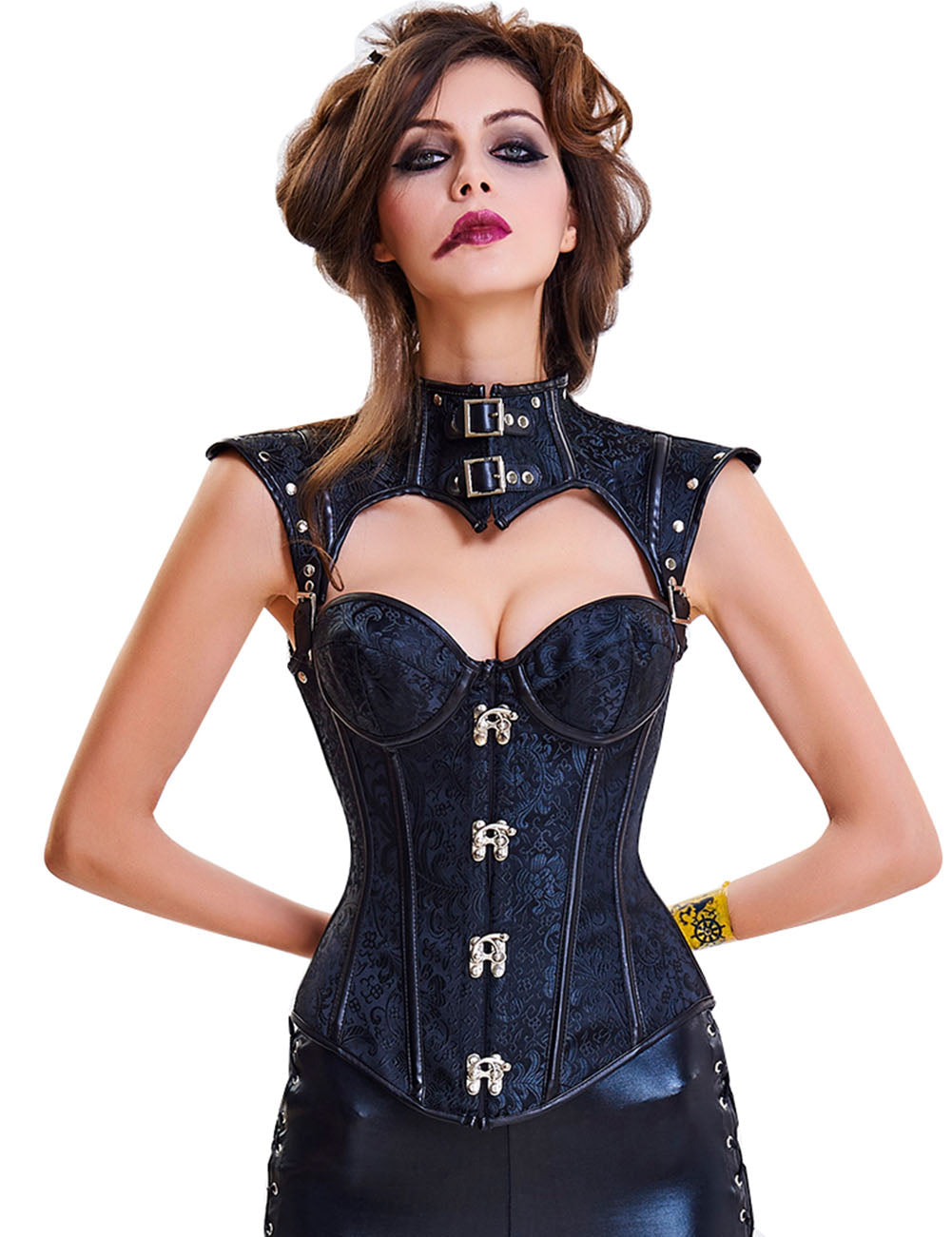 Contemporary Tailoring 16 Plastic Bones Buckled Straps Corset Ladies