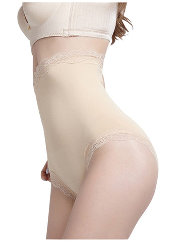Contouring High Waist Flower Lace Butt Lifter Wrap Slimmer