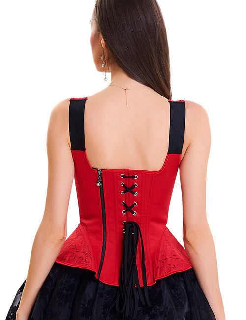 Curve-Creating 10 Plastic Bones Zipper Back Overbust Corset Weight Loss